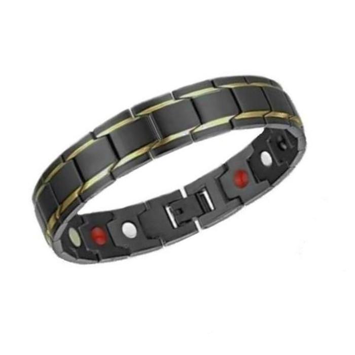 JualFaceted Black Tungsten Ceramic Magnetic Bracelet Gelang Pria KesehatanLimited | Shopee Indonesia