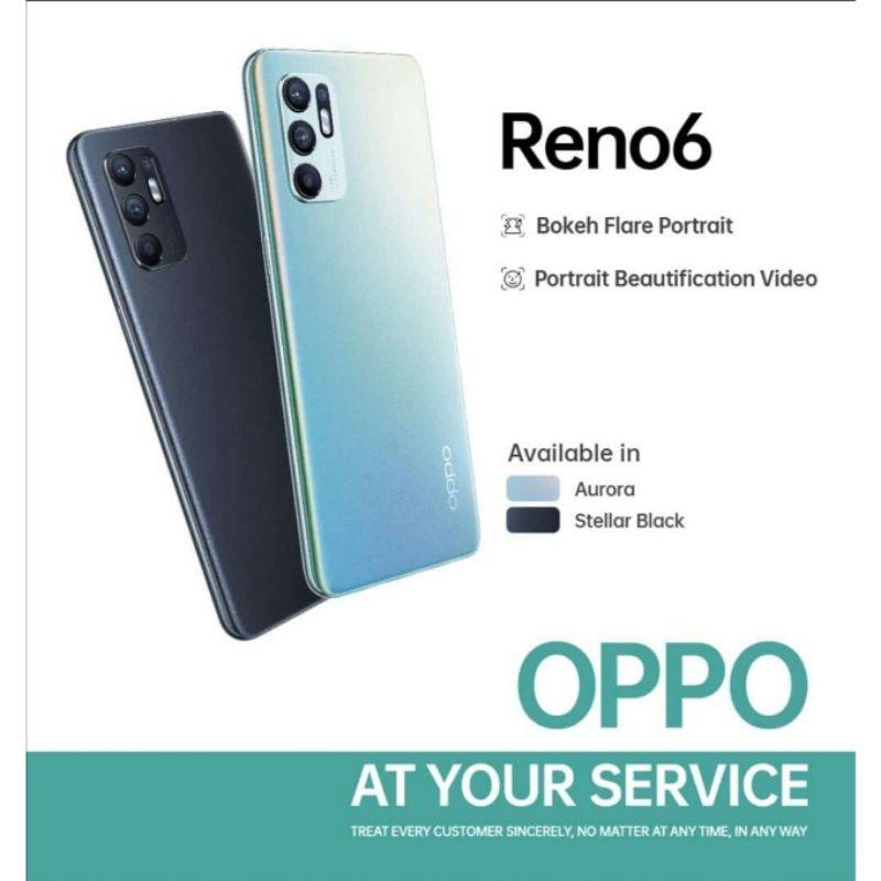 OPPO RENO 6 Ram 8/128 gb  - Bisa cicilan tanpa kartu kredit ( Bisa COD & akulaku ) handphone murah