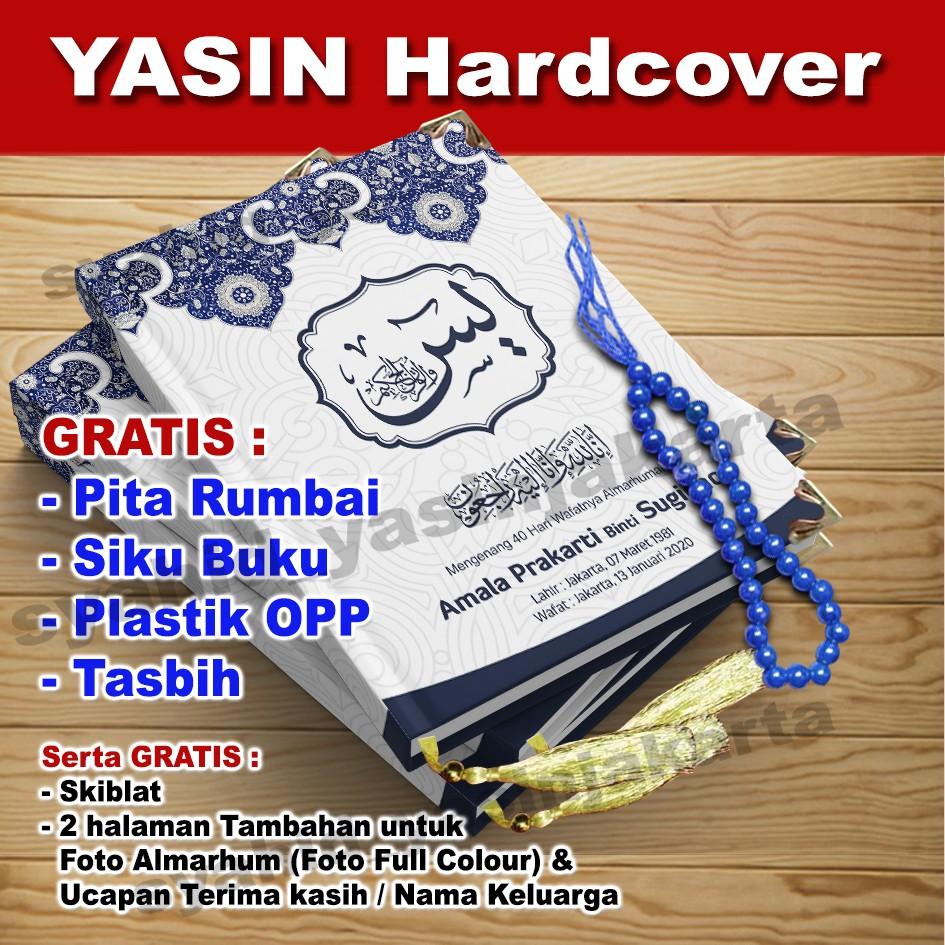 Buku Yasin Biru Putih Background Masjid Gratis Tasbih Shopee Indonesia