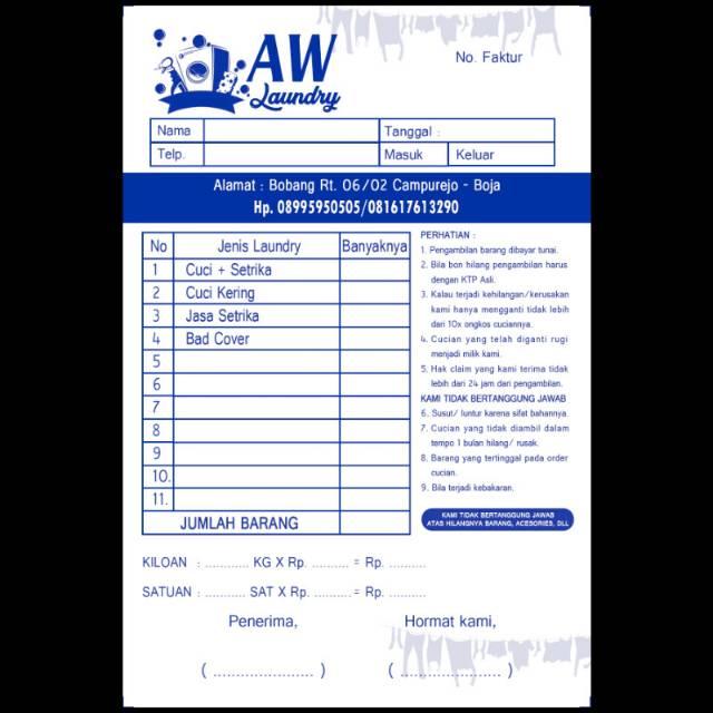 Cetak Nota Paket Hemat 2 Ply
