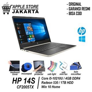 Laptop Video Editing Hp 14 Inch Cf2004tx Cf2005tx I5 10210 4gb 1tb Silver Gold Shopee Indonesia
