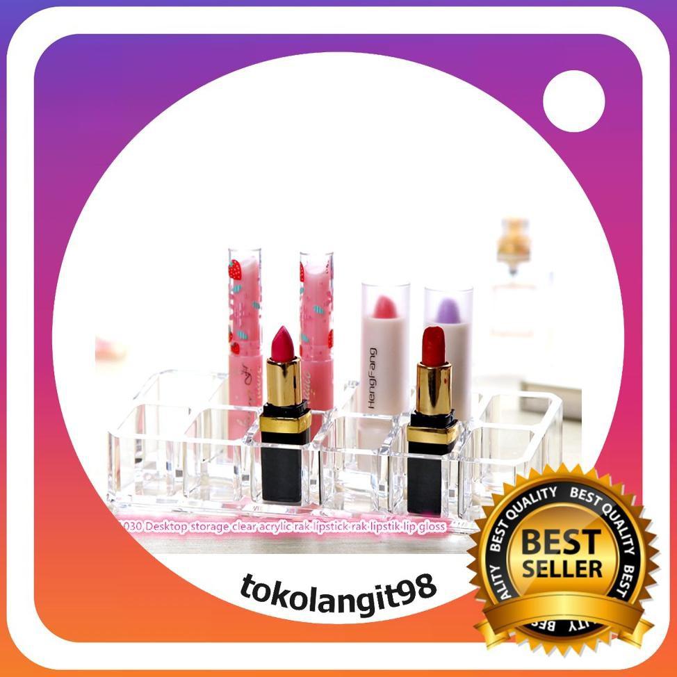 1030 Desktop storage clear acrylic rak lipstik rak lipstik lip gloss   Shopee Indonesia