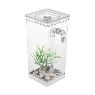 Self Cleaning Small Fish Tank Bowl Convenient Acrylic Desk Aquarium For Office H Shopee Indonesia