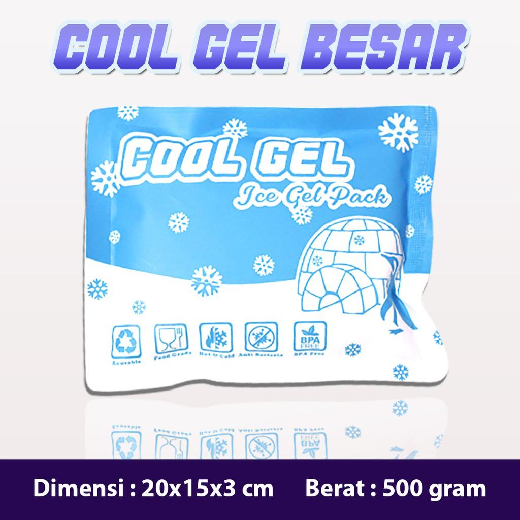 Ice Gel Besar 500g Merk Cool Gel Blue Ice Pack Gel Bukan Ice Gel Gabag Shopee Indonesia
