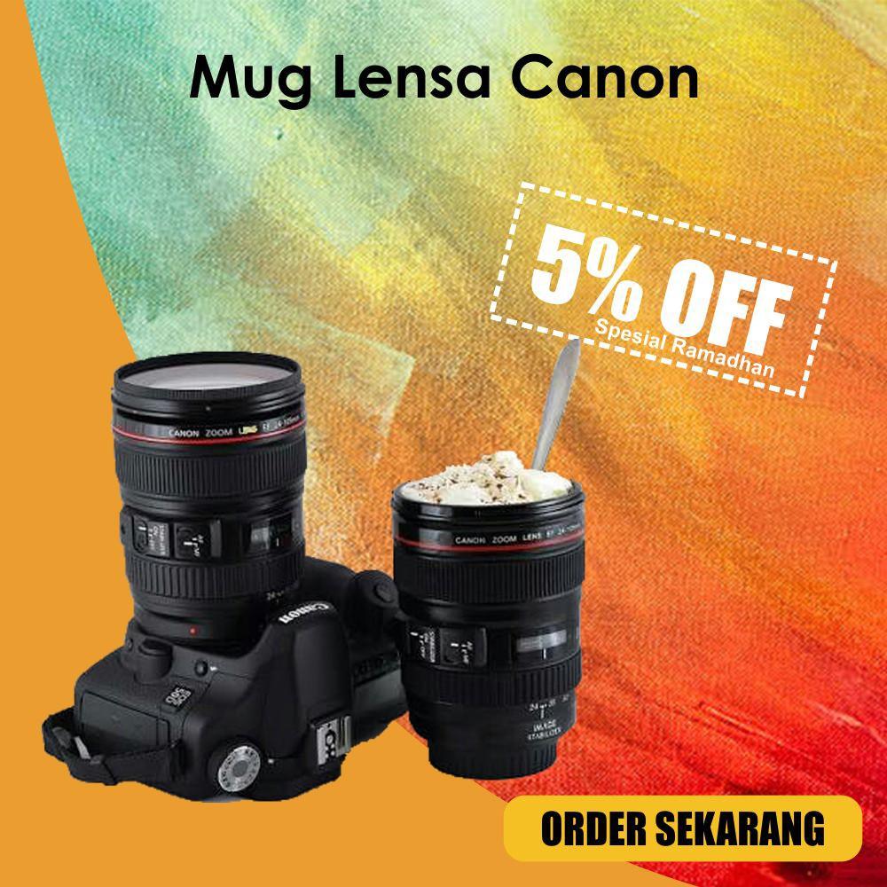 Sx1 Promo Murah Diskon Dm Tempat Minum Lens Mug Cup 420ml Gelas Canon Ef Lensa Kamera 24 70 Shopee Indonesia