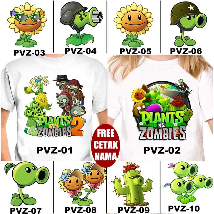Free Nama Baju Kaos Couple Anak Dan Dewasa Plants Vs Zombies Banyak Motif Shopee Indonesia