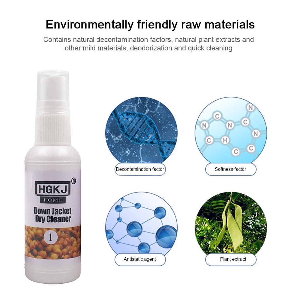 O Down Jacket Dry Cleaner Wash Free Spray Cleaning Agent Home Dry Cleaning Spray Cleaner Fct Shopee Indonesia