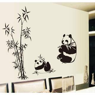 stiker dinding wallpaper 60x90cm motif karakter bambu