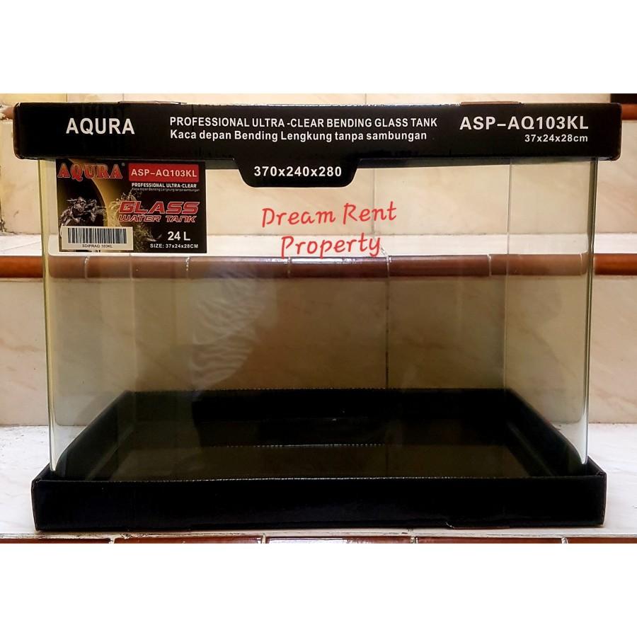 Promo Aquarium Akuarium Kaca Bending Lengkung Merk RECENT AQ-103