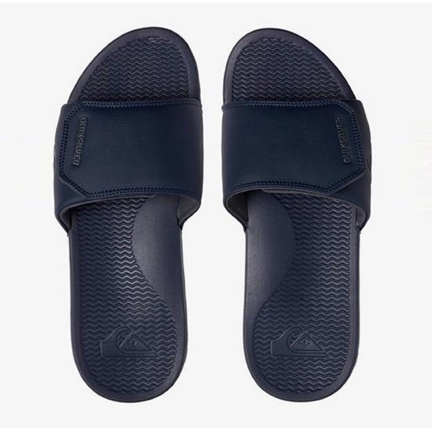 Quiksilver NEW Men/'s Shoreline Adjust Slider Sandals Black Green Black BNWT