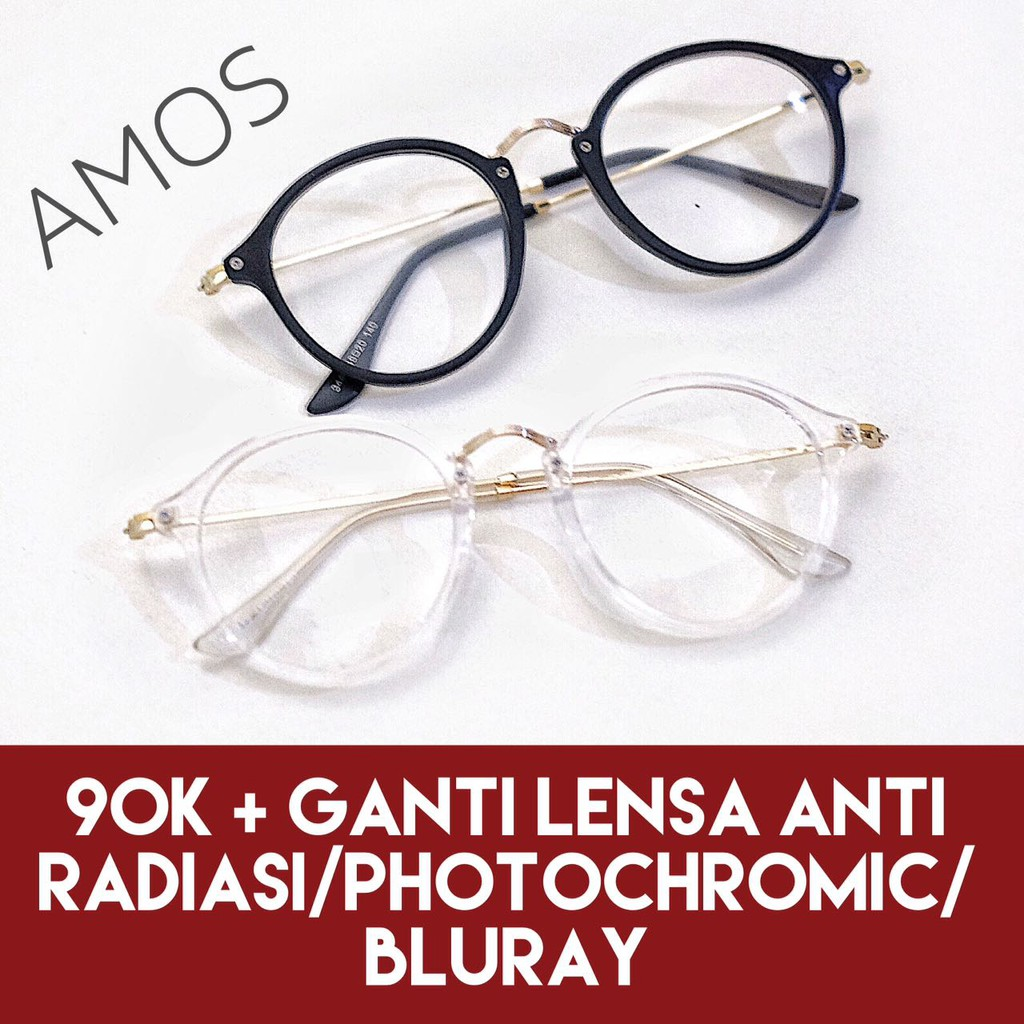 Frame Kacamata ABY - Kacamata Baca Plus Minus Antiradiasi Kualitas Premium  Free Case  83a258483b
