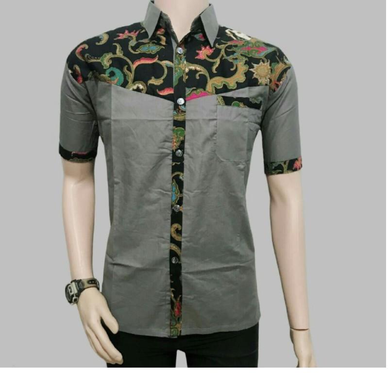 Model Baju Batik Pria Kombinasi Depan Belakang