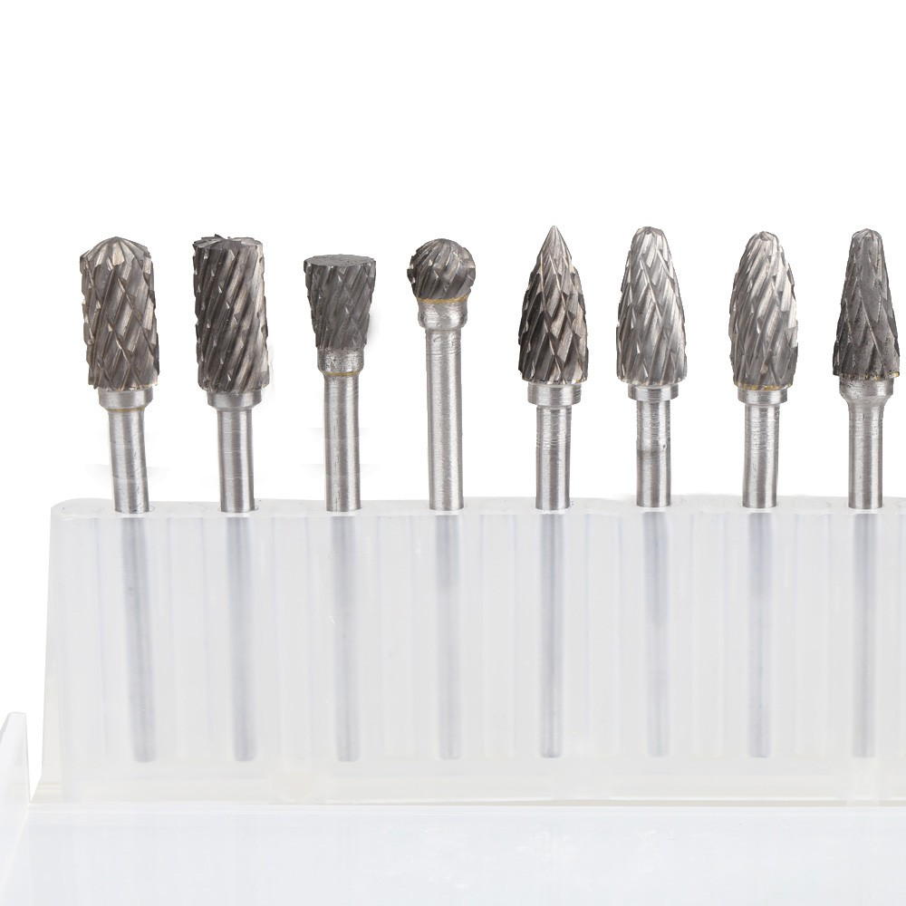 Pack of 20Pcs 3mm Shaft Tungsten Steel Solid Carbide Burrs For Rotary Drill Die Grinder Carving