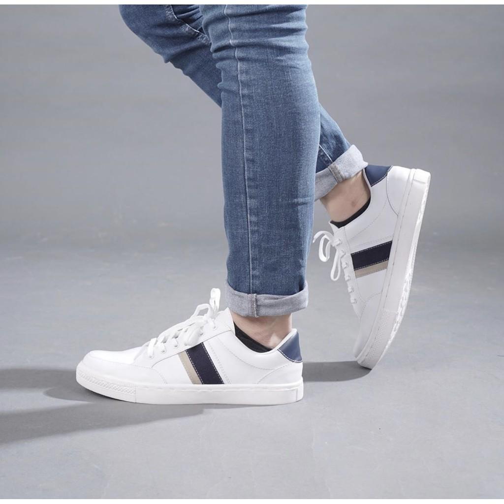 Sepatu Sneakers Putih Pria Cowok Casual Miles Co Dalton Series