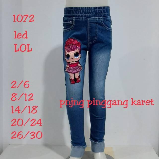 Celana Panjang Jeans Legging Pinggang Karet Anak Perempuan Fashion Anak Cewek Soft Jeans Led Lol1072 Shopee Indonesia
