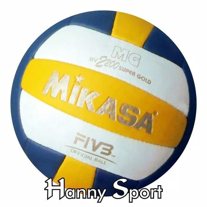 OLAHRAGA JYM579 Bola Volly Mikasa MV 2200 Super Gold Grade ORI / Bola Voli / Volley NEW | Shopee Indonesia