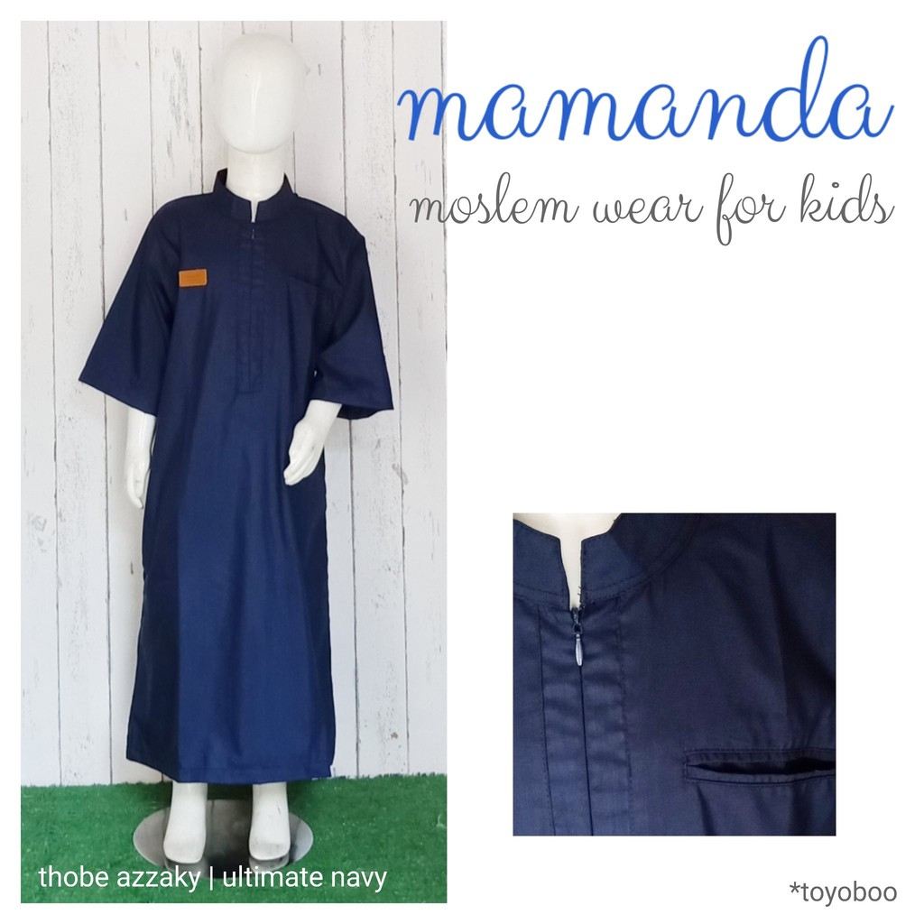 Thobe/Jubah Anak Navy Azzaky Ultimate Series by Mamanda