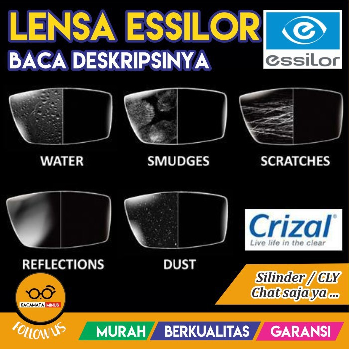 LENSA PROMO ESSILOR CRIZAL ALICE + GOOD QUALITY  99b91f15dc