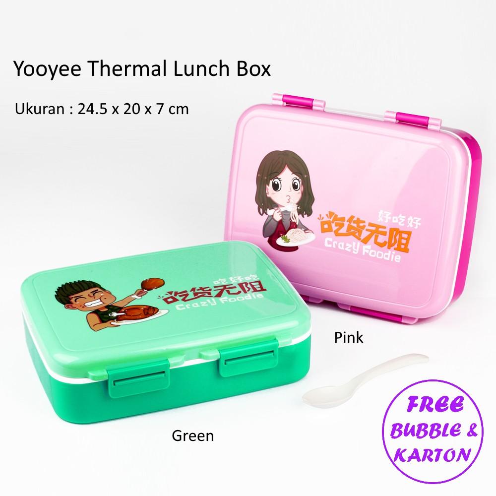 Yooyee Kotak Makan Grid Bento Lunch Box 6 Karakter Sekat Anti Bocor New 578 Bekal Packing Bubble Dan Karton Shopee Indonesia