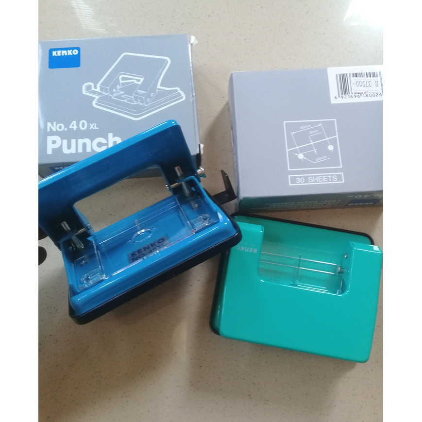 Pembolong Kertas Punch 2Holes 80mm - Kenko 40XL
