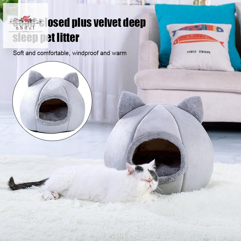 Pet Bed Shark Shape Nest Puppy Dog Cat Cushion House Kennel Sleeping Mat M//L