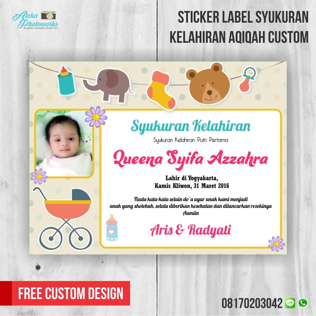 Sticker Label Syukuran Kelahiran Aqiqah | Shopee Indonesia