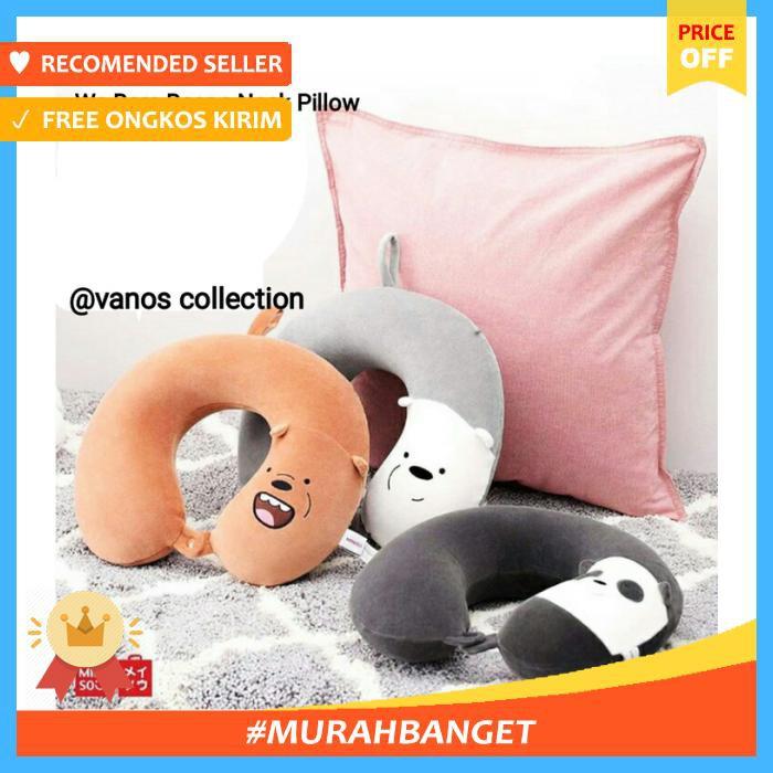 Miniso Bantal Leher We Bare Bears Boneka Dengan Hoodie Shopee 62fb91af02
