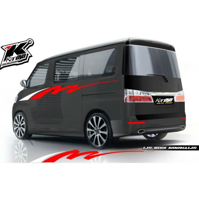 Cutting Sticker Mobil Apv Grandmax Luxio Desain Minimalis Termurah Shopee Indonesia