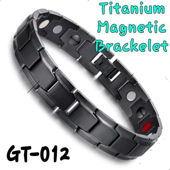 GT-012 Gelang Terapi Magnet Kesehatan Bio Energi 3 in 1 - Titanium Terjamin |