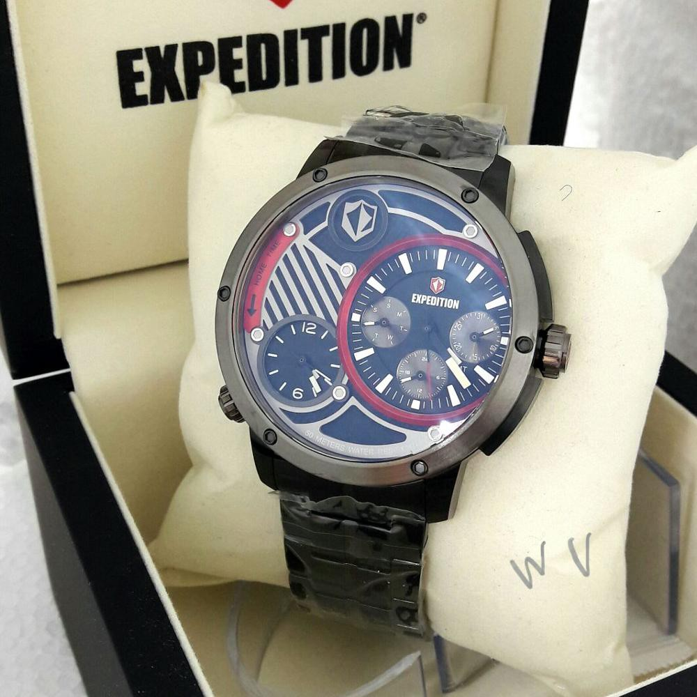 Expedition E3002mc Plat Putih Casing Biru Rantai Shopee Jam Tangan Pria 6721 Black Merah Original Indonesia