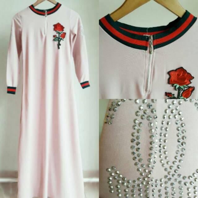 Premium Maxi Dress Baju Gamis Premium Shopee Indonesia