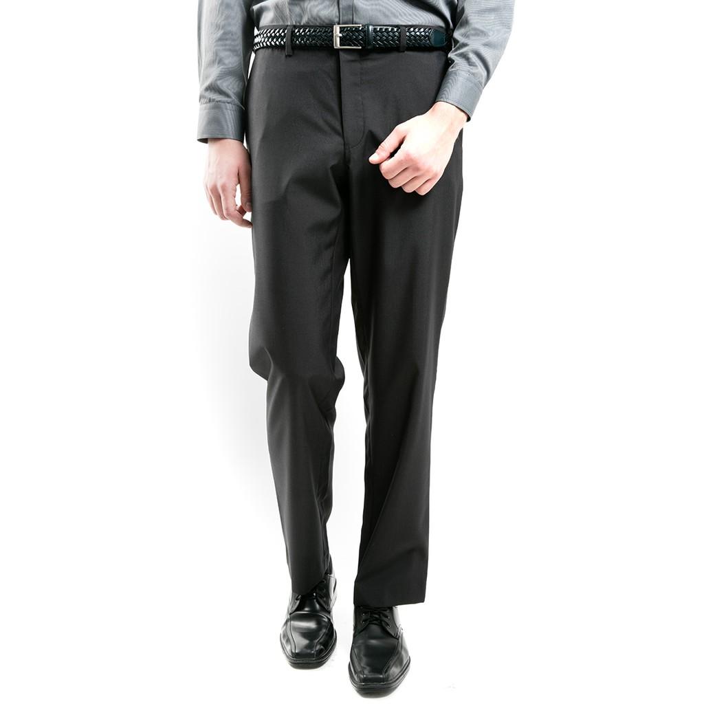 MANLY Celana Formal Regular Fit Dorfman Black