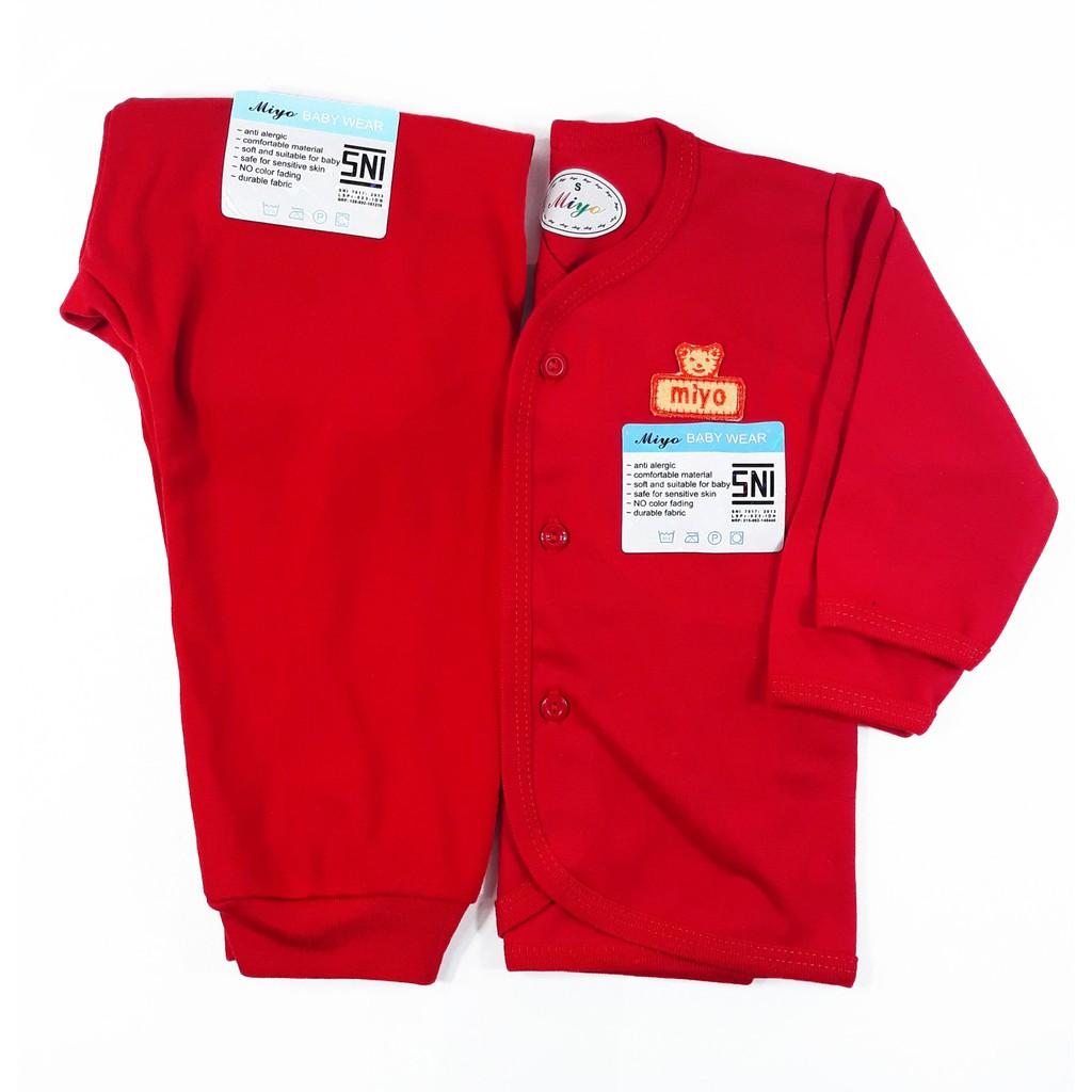 MIYO Red Setelan Baju Pendek +Celana Pendek S,M,L ( 6-18 Bulan) | Shopee Indonesia