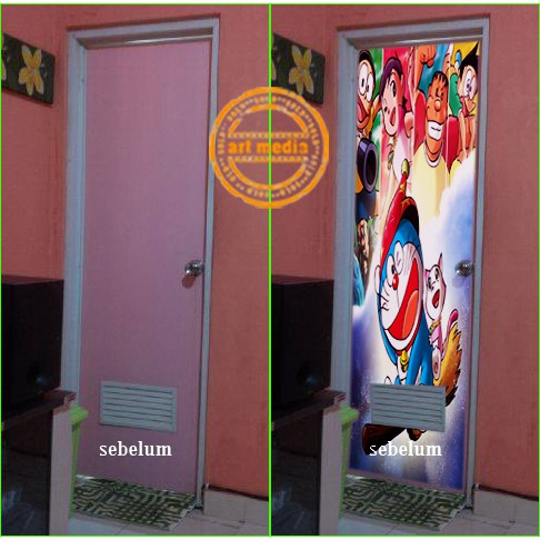 30+ ide keren stiker pintu kamar mandi minimalis - aneka