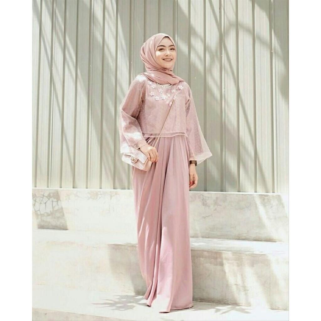 Busana Muslim Baju Muslim Gamis Murah Gaun Pesta Muslimah Baju Pesta almell8