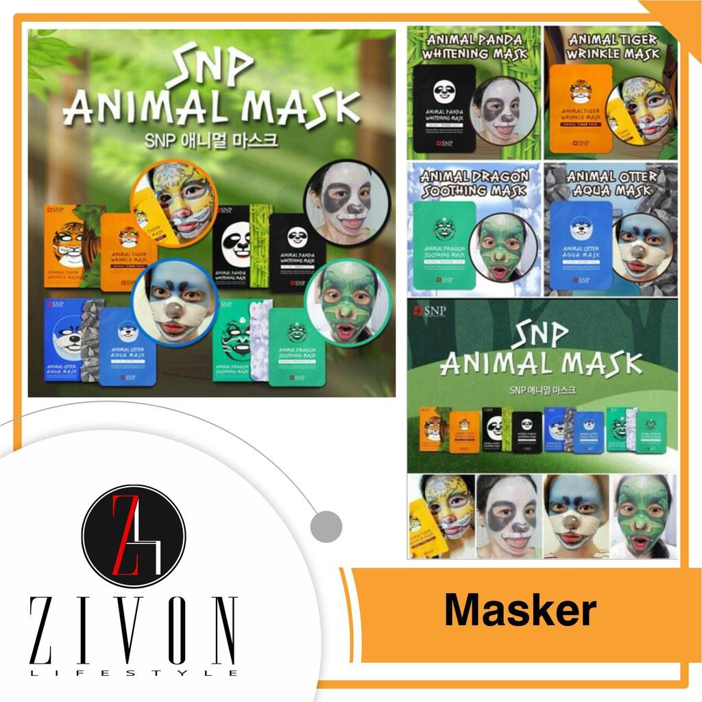 Masker Lumpur Muka Wajah Snp Animal Mask Hitam Face Peel Off Binatang Shopee Indonesia
