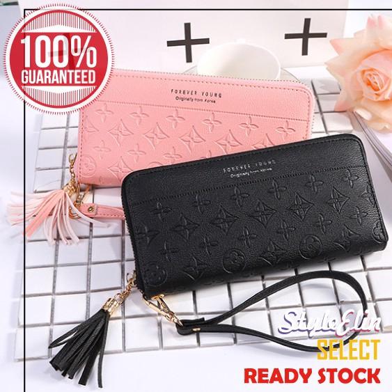 New fashion lady wanita dompet tipis panjang clutch dompet pemegang kartu PU tas | Shopee Indonesia
