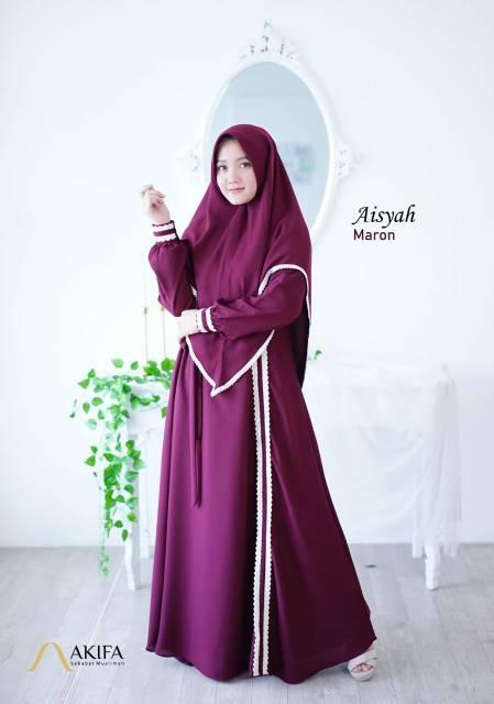 Gamis Aisyah Ori By Akifa Gamis Set Khimar Shopee Indonesia
