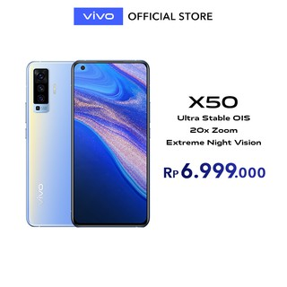 [NEW]vivo X50 Frost Blue 8GB/128GB Extreme Night Vision | Ultra Stable OIS | 20x Zoom -Garansi Resmi