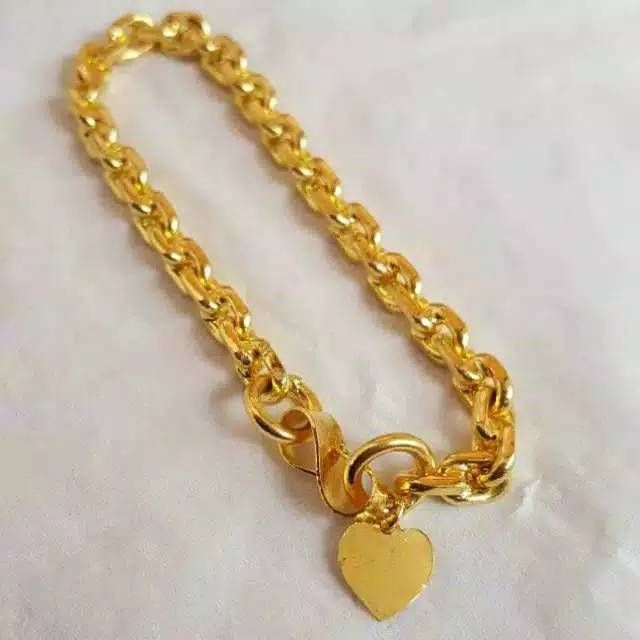 TERMURAH Set Perhiasan Lapis Emas 24 Karat Gelang Xuping ...