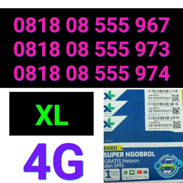 Kartu perdana XL 4G super ngobrol 0818 555 nomer cantik xl special   Shopee Indonesia