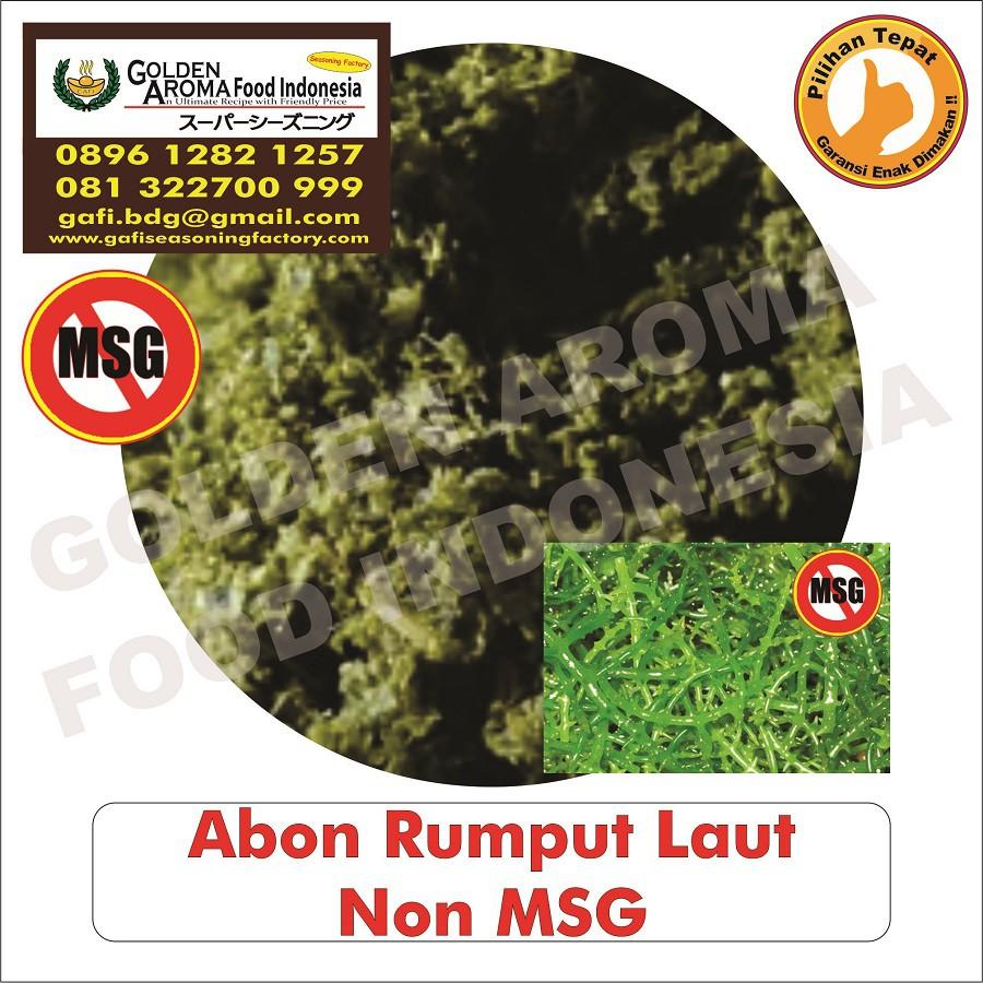 Abon Bumbu Tabur Rasa Rumput Laut Non MSG 500 Gram Jual Abon Bubuk Tabur Seaweed No MSG Gurihya GAFI