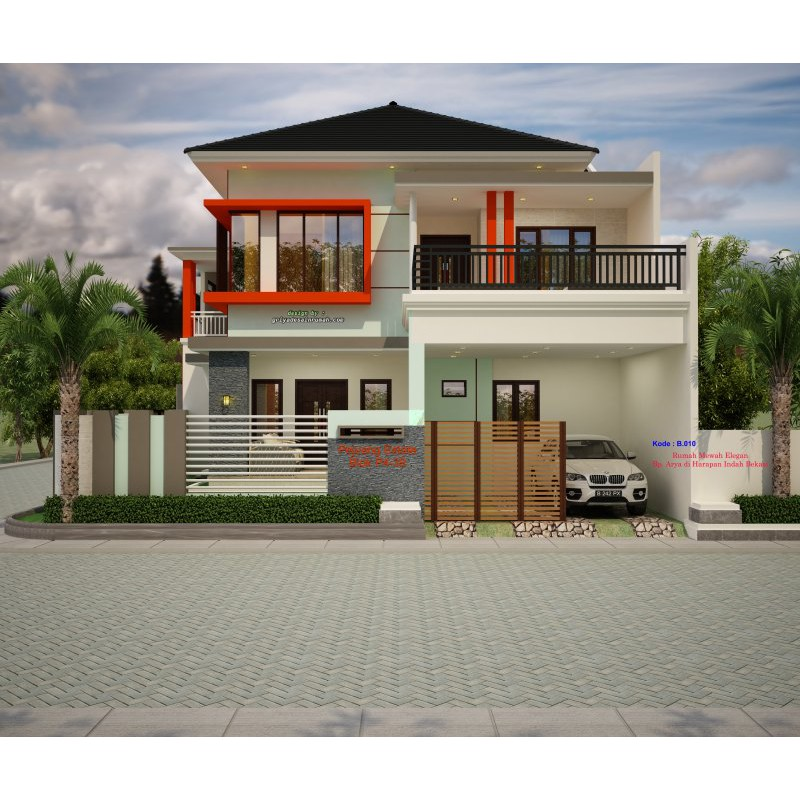 Desain Rumah 2 Lantai Mewah B 010 Shopee Indonesia