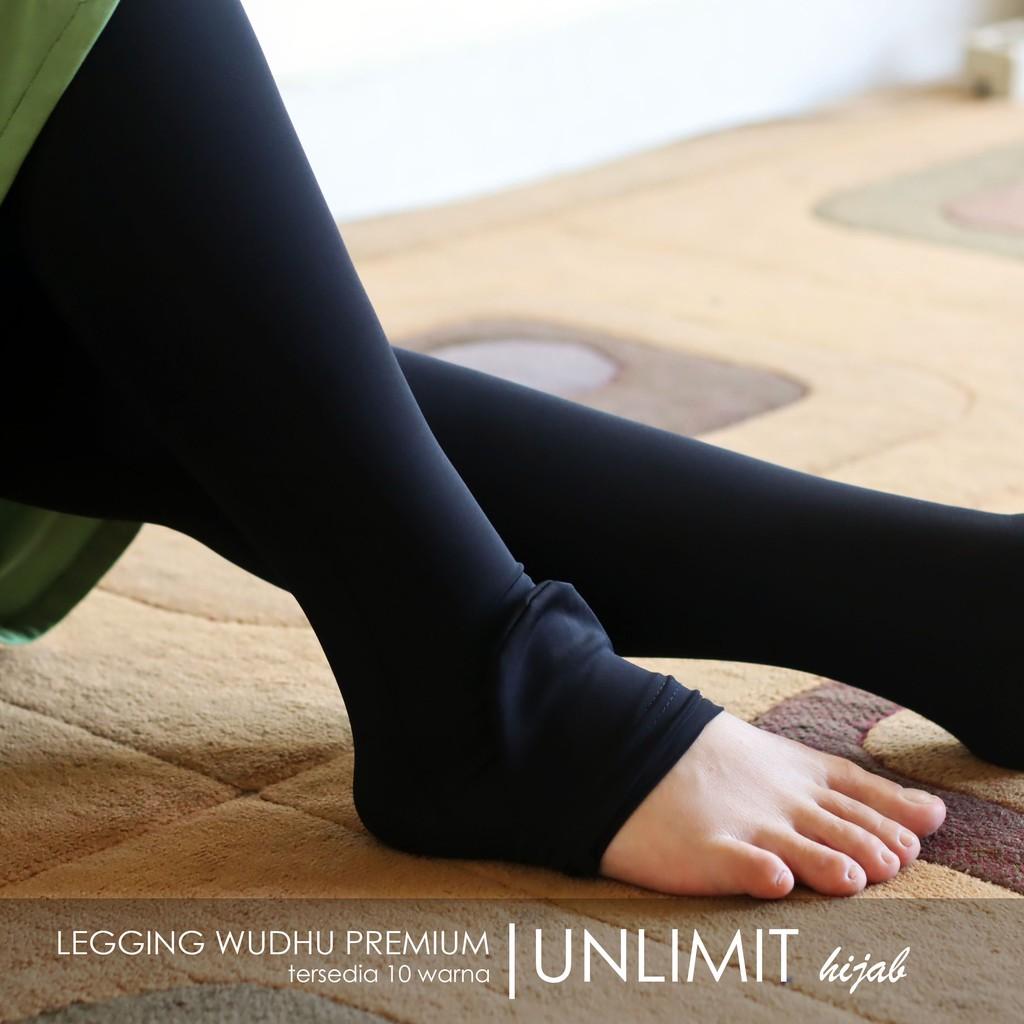 Legging Wudhu Kaos Muslimah Full Tersedia Warna Hitam Allsize Spandex Rayon Jumbo Standart Shopee Indonesia