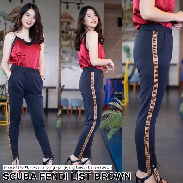 Reapic Scuba Legging List Celana Wanita Fashion Wanita Shopee Indonesia