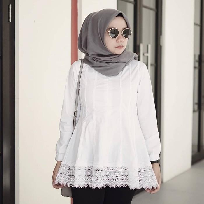 Baju Atasan Wanita Muslim Atasan Wanita Murah Blouse Muslim Aleria Shopee Indonesia