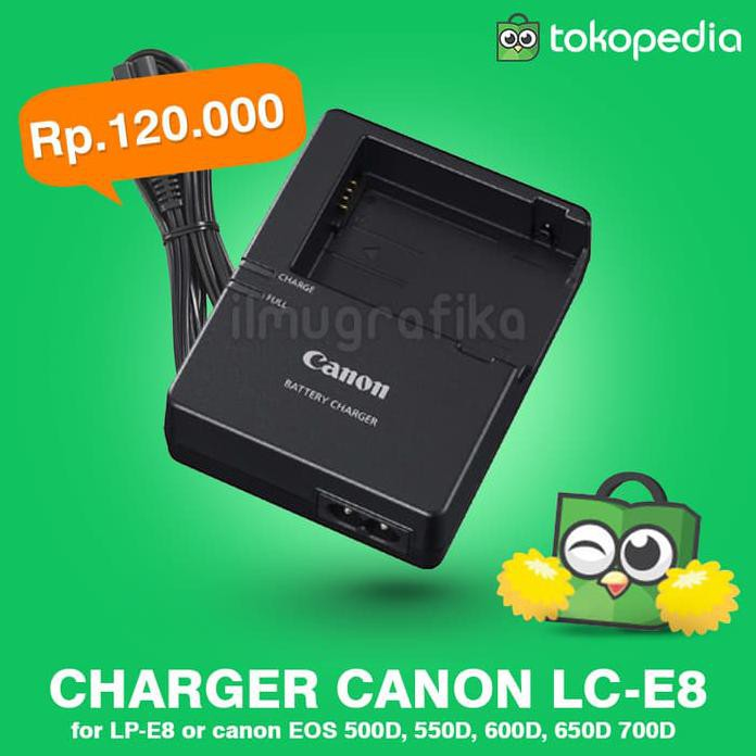 Kamera Charger Canon Lc-E8 Lc-E8E Lc-E8C Baterai Lp-E8 550D 600D 650D 700D Murah | Shopee Indonesia