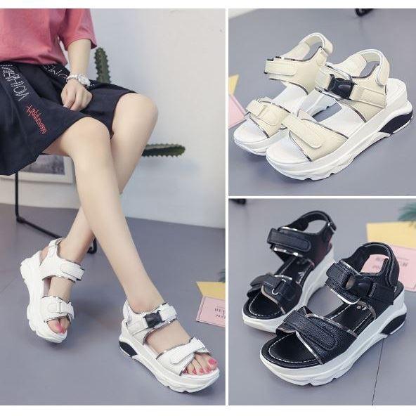 Shs1525 Sandal Wanita Stylish Kekinian Import Shopee Indonesia
