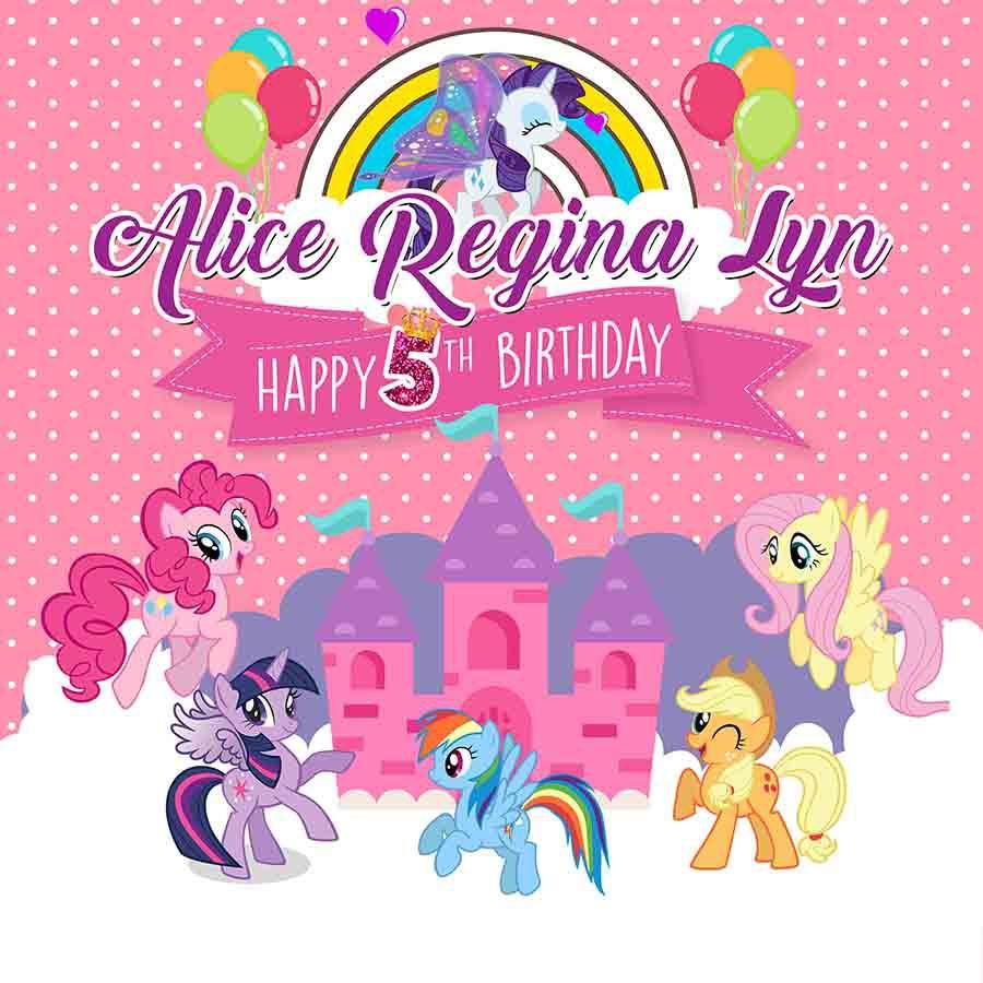 Paket Dekorasi Ultah Owesome My Little Pony