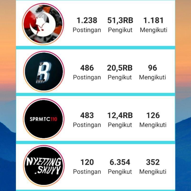 Jual akun Instagram aktif Followers 1k-10k akun ig murah